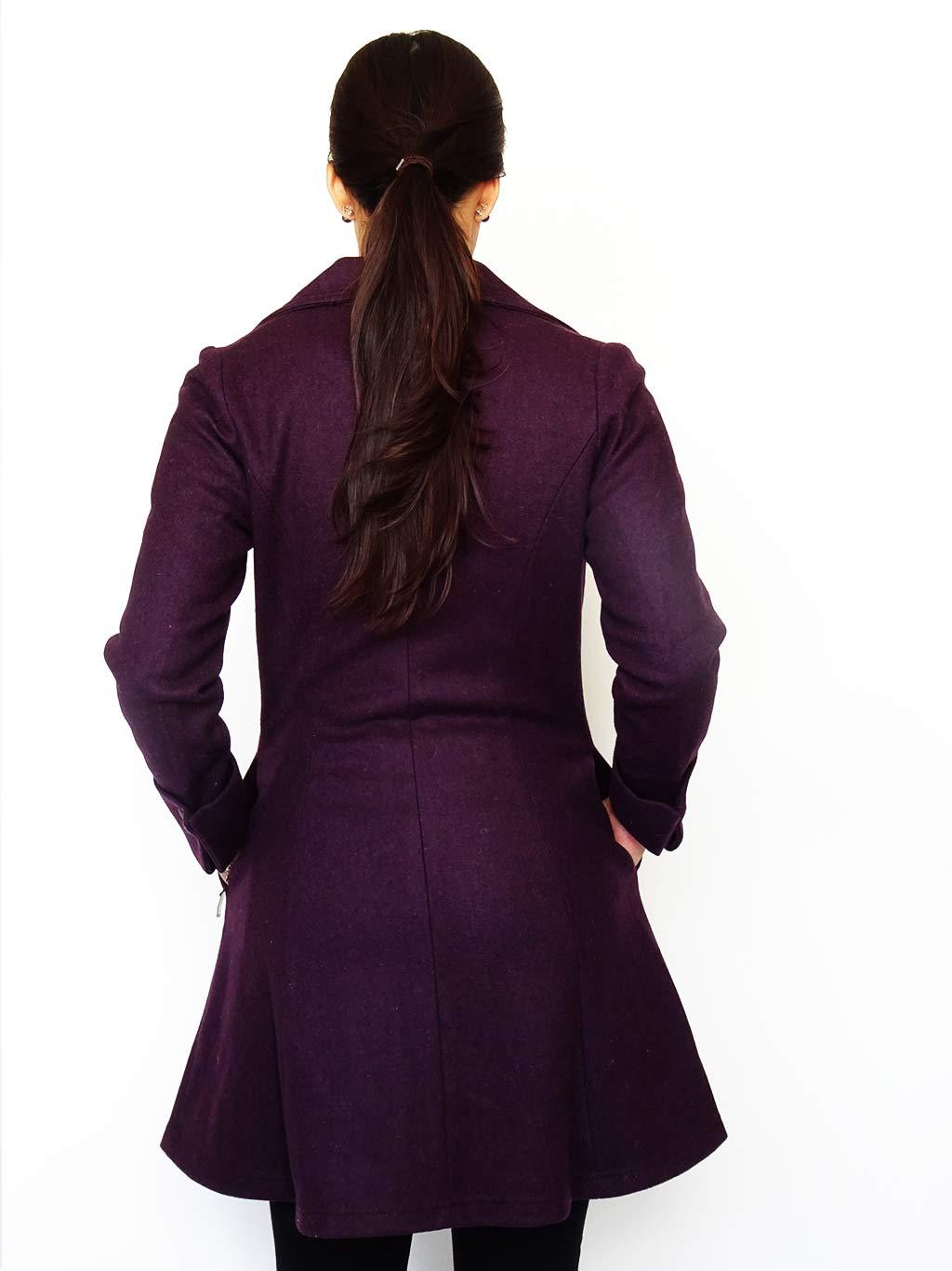 Abrigo Tessa Color Violeta Atrás