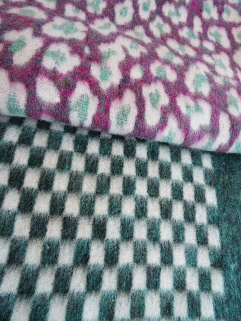 Cobija Montañera 1 1/2 PLAZAS diseños piel de jaguar y ajedrez
